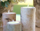 Birch Bark Candle Holders Rustic Home Decor Christmas Gift Under 20 GUARANTEED Christmas Delivery
