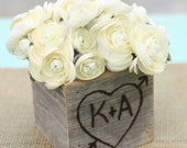 Rustic Barn Wood Planter Vase Wedding Shabby Chic Personalized (item E10528)
