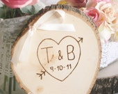 Rustic Ring Bearer Pillow Personalized Wood (item E10453)