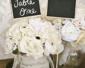 Chalkboard Signs Table Numbers Shabby Chic Wedding Rustic Decor SET of 12