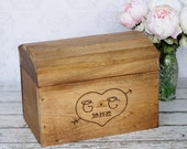 Rustic Card Box Personalized Wedding Engraved Wood (Item Number 140296)