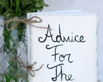 Wedding Guest Book Advice For The Couple Shabby Chic Decor (item P10188)