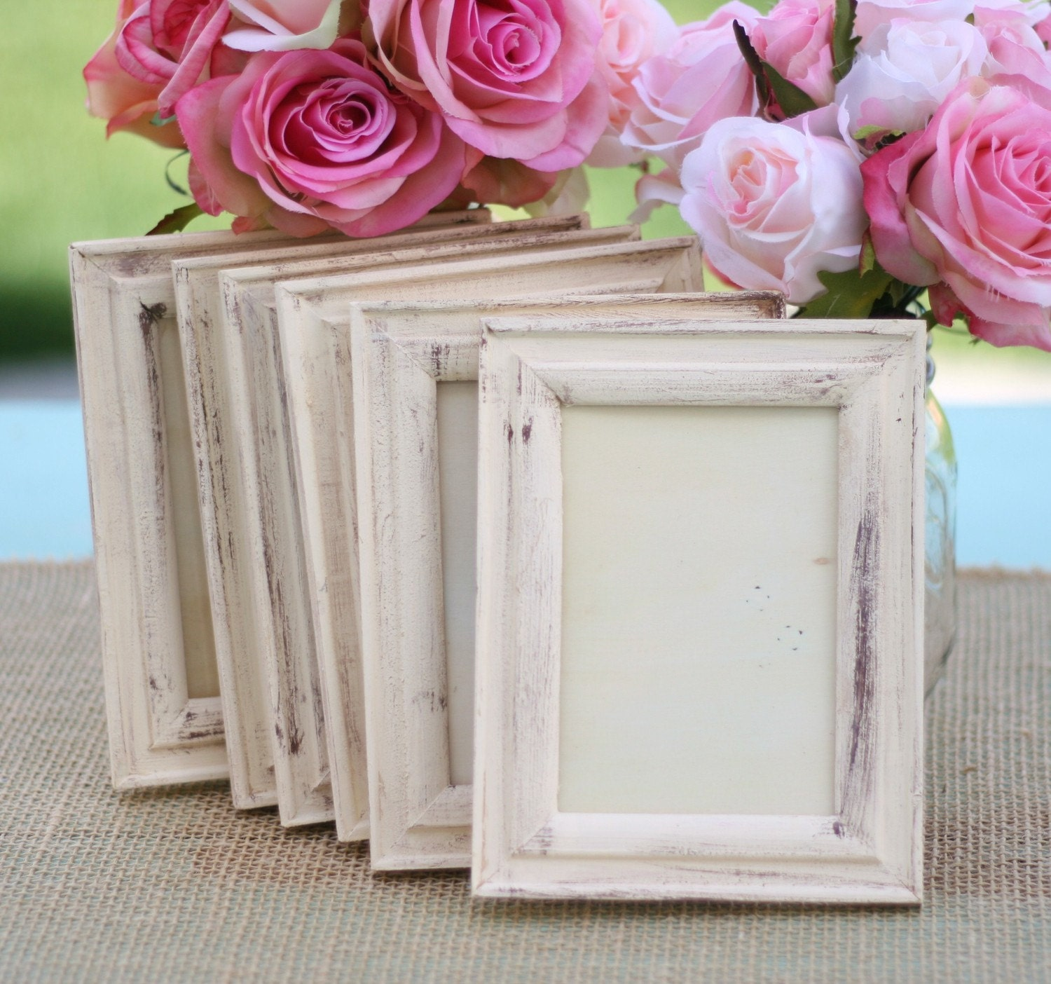 wedding frame shabby chic rustic distressed paint by braggingbags. Black Bedroom Furniture Sets. Home Design Ideas
