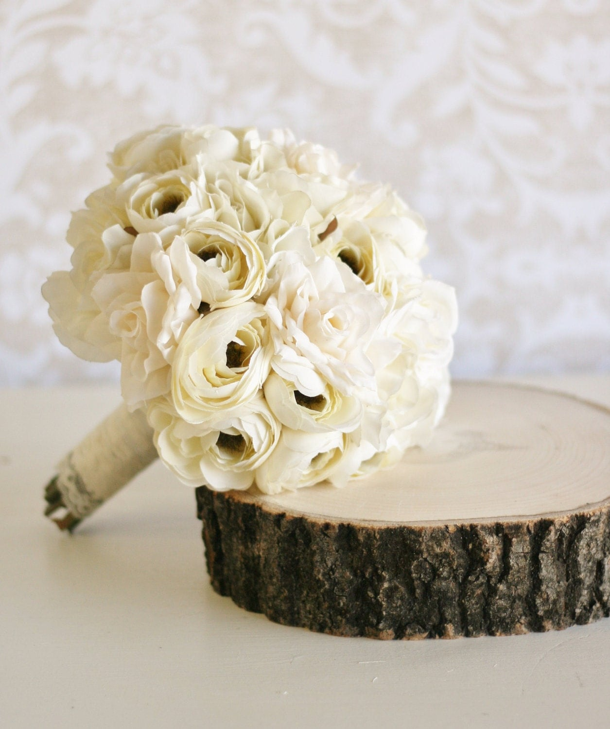 Vintage bride bouquet shabby chic wedding item by braggingbags for Bouquet chic