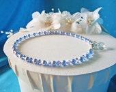 Something Blue Anklet Swarovski Crystal Wedding Jewelry Ankle Bracelet