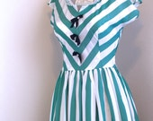 VTG 1950s Mode O' Day chevron dress