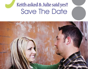 Save the Date Playful & Fun Custom Wedding Scratch Off Save the Date Announcement Invitation Cards