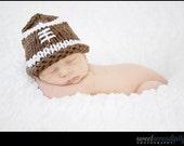 Knit Baby Football Hat Newborn Photo Prop