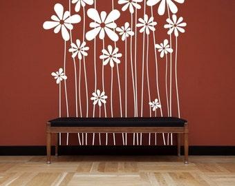 Large Beautiful Flowers Vinyl Wall Decal Sticker
