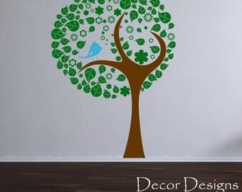 Birdie Tree Vinyl Wall Decal Sticker