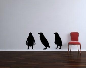 Three Little Penguins Vinyl Wall Decal Sticker
