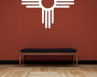 New Mexico Zia Symbol Vinyl Wall Decal Sticker