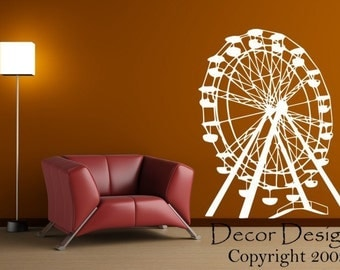 Ferris Wheel Vinyl Wall Decal Sticker
