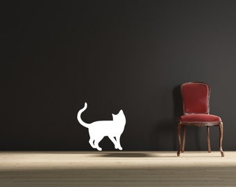 Playful Cat Vinyl Wall Decal Sticker