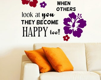 Be So Happy Inspirational Quote Vinyl Wall Decal Sticker