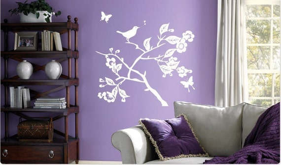 SALE. 50% OFF. 1 Day Only. Use Coupon Code CYBER50 Song Bird and Butterflies Wall Decal