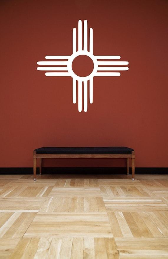 New Mexico Zia Symbol Vinyl Wall Decal Sticker