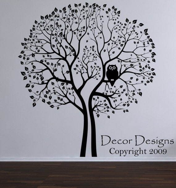 Huge Tree With Hoot Owl Wall Decal
