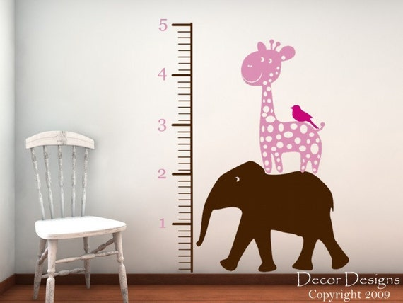 Animal Stacker Growth Chart Wall Decal