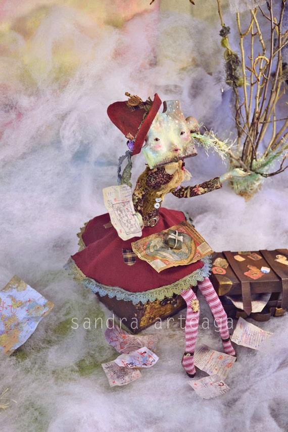 EXTRA SALE! - Where are you hiding? - art doll puzzle fantasy doll sculpture unique piece searching pure sculpt