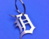 DETROIT Tigers Stainless Steel Keychain Old English D