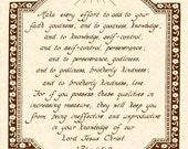 2 PETER 1:5-8 --- 8 X 10 Calligraphy Art Print