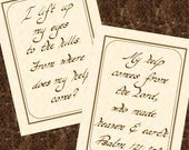 PSALM 121.2-3 --- Set of Two 5 X 7 Calligraphy Art Prints
