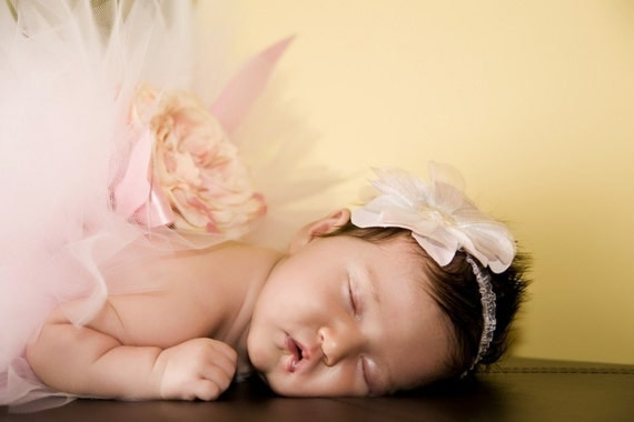 Newborn Pink Peony Vintage Tutu Infant Newborn Toddler PHotography Prop Gorgeous FUll and Luxe