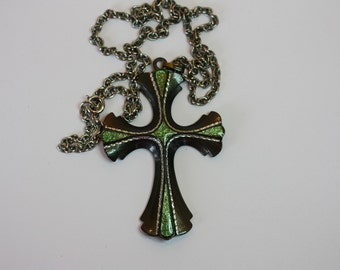 Vintage 1976 Necklace Sarah Cov. Maltese Cross Large Pendant Necklace Limited Edition