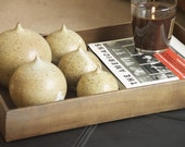 Decorative Oatmeal and Cream Ceramic Home Accent Kisses Set of 5
