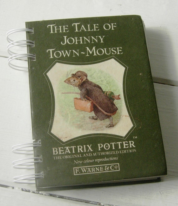 Johnny Town-Mouse, Beatrix Potter Upcycled Vintage Book Journal
