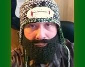 Sock Monkey Hat with Detachable Beard crochet pattern pdf 513