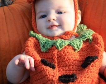 Baby Pumpkin Costume Crochet Pattern pdf 474