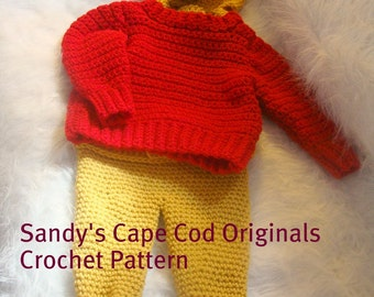 Pooh Inspired Baby Layette Set Crochet Pattern PDF545