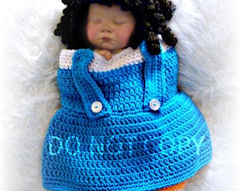 Dorothy Cocoon and Hat Crochet pattern PDF 586