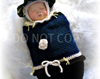 Scarecrow Cocoon and Hat Crochet Pattern pdf 587
