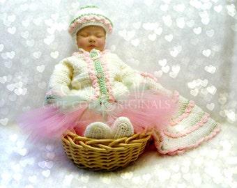 Fairy Pixie Baby Layette Set Crochet Pattern 102B pdf