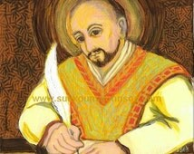 St. Ignatius of Loyola - Founder of the Society of Jesus - Catholic Art - Print in Three Sizes - FREE SHIPPING