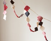 Valentine Garland, Upcycled Felt Scrap Garland