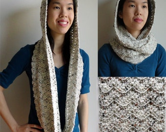 Hooded Chevron Cowl - PDF Crochet Pattern - Instant Download
