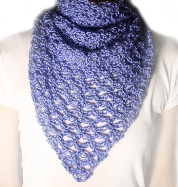 Lover's Knot Triangle Scarf - PDF Crochet Pattern - Instant Download
