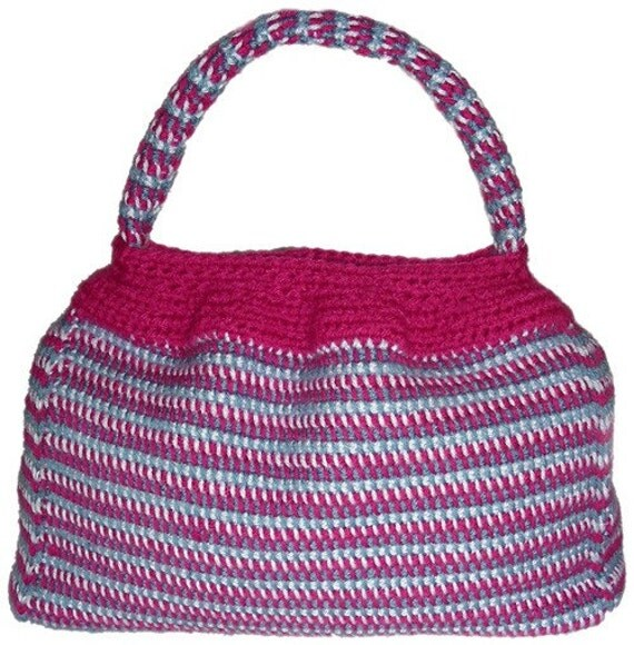 Tunisian Crochet Patterns Bags : Carry-A-Lot Tunisian Purse - PDF Crochet Pattern - Instant Download