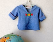 Vintage Blue Toddler Blouse - 50% OFF