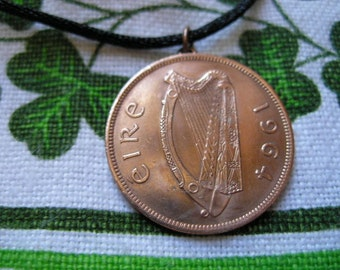 1964 Authentic Irish Penny- Birth Year Necklace/1964