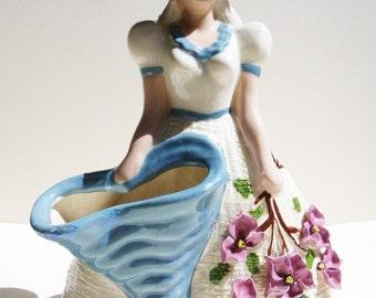 California Pottery 1940s - Hedi Schoop -Sweet vintage belle vase -