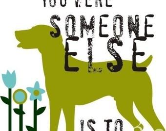 Weimaraner Dog Art Print Inspirational Wall Decor Poster
