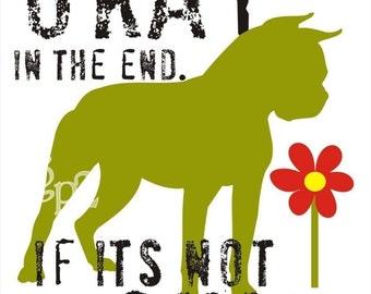 Boston Terrier Dog Art Print Wall Decor Inspirational Series