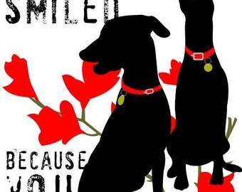 Doberman Dog Art Print Wall Decor Love Inspirational Series