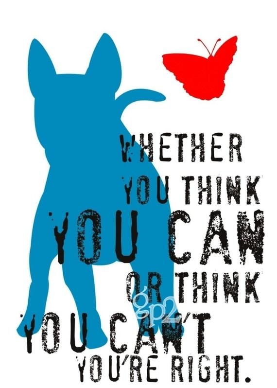 Bull Terrier Art Print Wall Decor Inspirational Dog Series