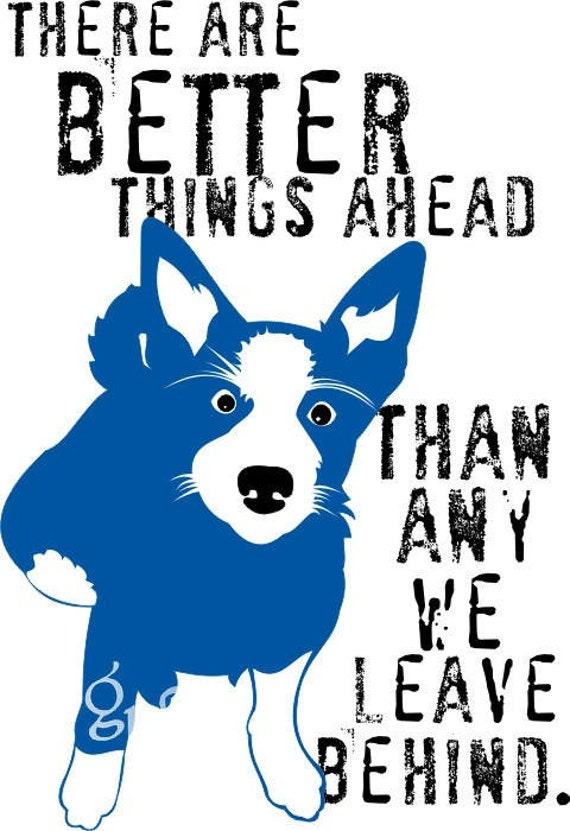 Australian Cattle Dog Border Collie Dog Art Print Inspirational Dog Print Series